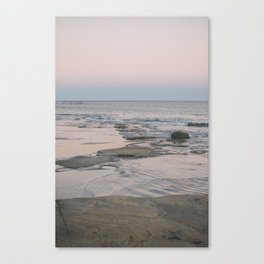 Dusk over the ocean Canvas Print