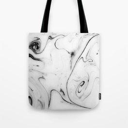 Elegant white marble image Tote Bag