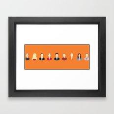 Arrested Development Characters Print  Framed Art Print