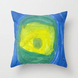 Eye Watercolor Throw Pillow