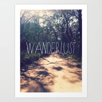 wanderlust Art Prints featuring Wanderlust by Louise