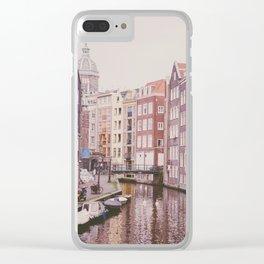 Amsterdam love II Clear iPhone Case