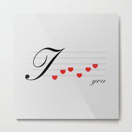 Music of love Metal Print