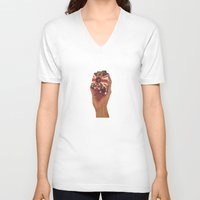 british V-neck T-shirts featuring British Brownie by Dan Howard
