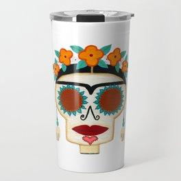 Frida Skelly with Earrings Travel Mug
