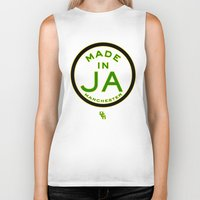 jamaica Biker Tanks featuring Made in Manchester-Jamaica by DCMBR - December Creative Group