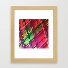 Striping Confusion Framed Art Print