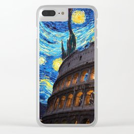 Colosseo Starry Night Clear iPhone Case