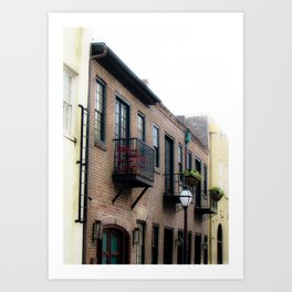 Downtown Charleston SC Art Print