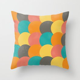 Bright Decaying Scales Throw Pillow