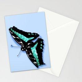 Papillon vert Stationery Cards