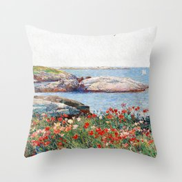 Poppies, Isles Of Shoals - Digital Remastered Edition Throw Pillow
