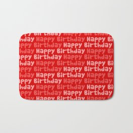 Happy Birthday on Red Bath Mat