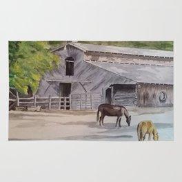 Old Horse Barn Rug