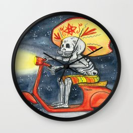 Night Scooter Wall Clock
