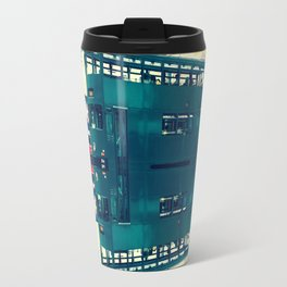 Tramway collage cityscape in Hong Kong Travel Mug