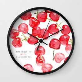 Cherry pies Wall Clock
