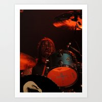 dave grohl Art Prints featuring dave grohl by Hattie Trott
