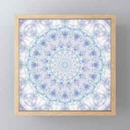 Purple, Blue, and Green Pastel Mandala Framed Mini Art Print