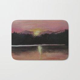 Grundy Lake Sunset Bath Mat