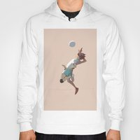 haikyuu Hoodies featuring Oikawa jumping by pingu