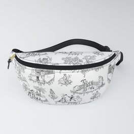 Zombie Toile - B&W Fanny Pack