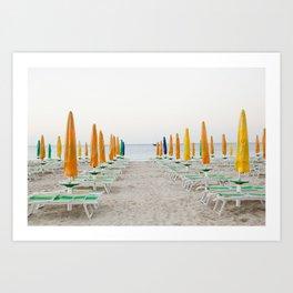 Quiet Italian Beach Art Print