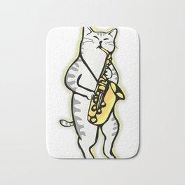 Saxophone tees   Lucky Cat   For Women & Men Premium Bath Mat