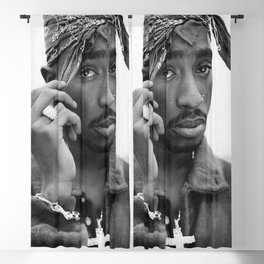 Tupa-c Amaru Shakur Poster Print, Hip Hop Rap, 2pa-c Wall Art, Hip-Hop Rapper, Music Legend, Fashion Décor Black White Print Sizes A5/A4/A3 Blackout Curtain