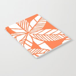 Tropical Palm Tree Composition Orange Notebook
