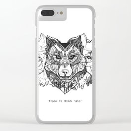 Learn To Speak Wolf Clear iPhone Case