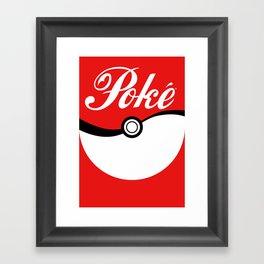 Poké Framed Art Print