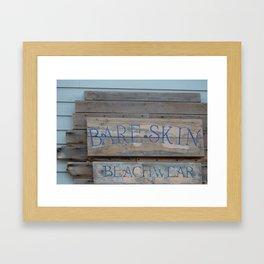 Bare Skin Beachwear Framed Art Print