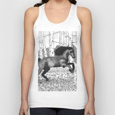 Wild horse Unisex Tank Top