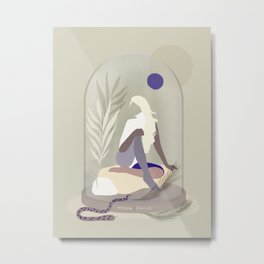 Moon Child - Girl in Wild Nature Metal Print