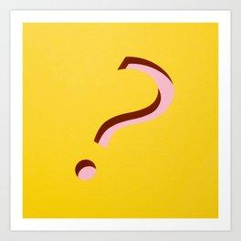 Question Mark Art Print