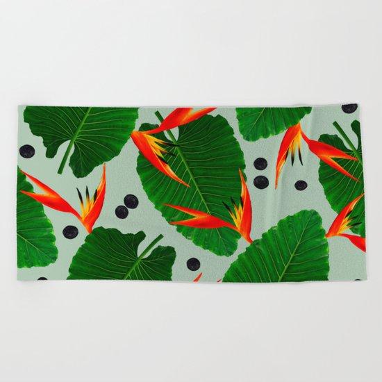Costa Rican Print Beach Towel