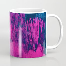 Early Bird: A vibrant minimal abstract piece in blues and pink by Alyssa Hamilton Art Coffee Mug