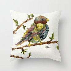 Positivity Bird Throw Pillow