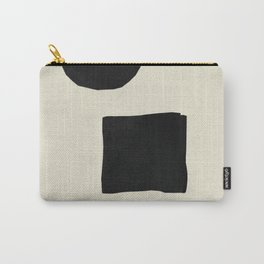 Black Shapes Cut Carry-All Pouch