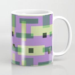 Purple, Green and Yellow Block City Coffee Mug