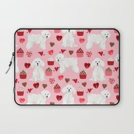 Bichon Frise valentines day dog gifts pet art portraits of your furry friend dog breeds Laptop Sleeve
