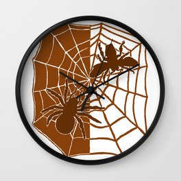 Confrontation. Brown Wall Clock