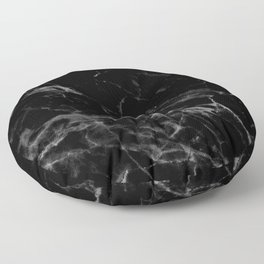 Black Marble Floor Pillow