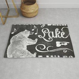 Dancing Bear Lake Sign Rug