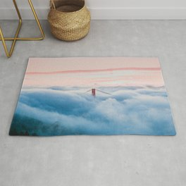 Golden Gate Bridge Above the Clouds Rug