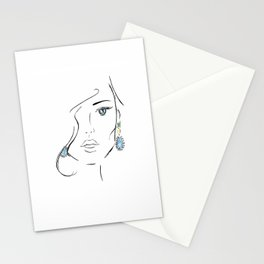 Topaz eye Stationery Cards