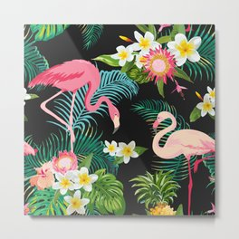 Flamingo Dance Metal Print