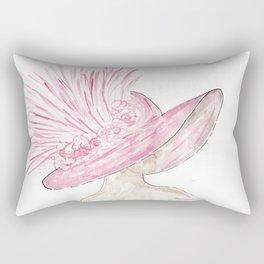 Pink Derby Hat, Kentucky, Horse Race, Southern Rectangular Pillow