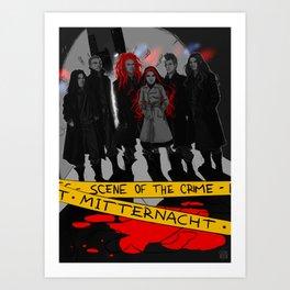 Mitternacht - THE SCENE OF THE CRIME Art Print